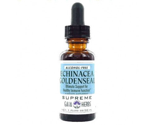 Gaia Herbs Echinacea Goldenseal Supreme Alcohol Free Extract