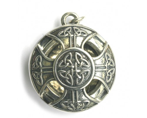 Earth Solutions Aromatherapy Jewelry - Scent Chamber Celtic Cross Sterling Silver