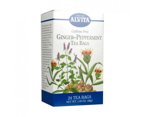 Alvita Teas Ginger-Peppermint Tea 24 Teabags