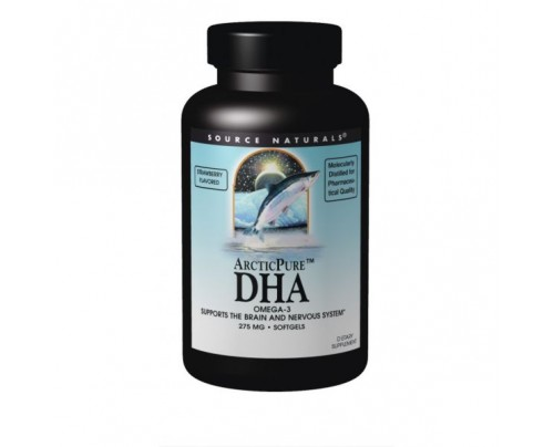 Source Naturals ArcticPure Strawberry Flavored DHA Omega 275mg Softgels