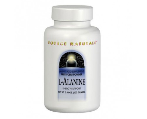 Source Naturals L-Alanine 2.3g (3.53oz.) 100 grams Powder