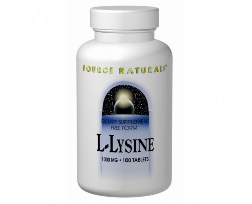 Source Naturals L-Lysine 1,000 mg 100 Tablets