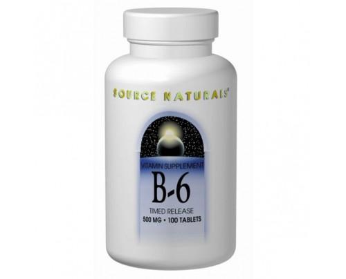 Source Naturals Vitamin B-6 Tablets