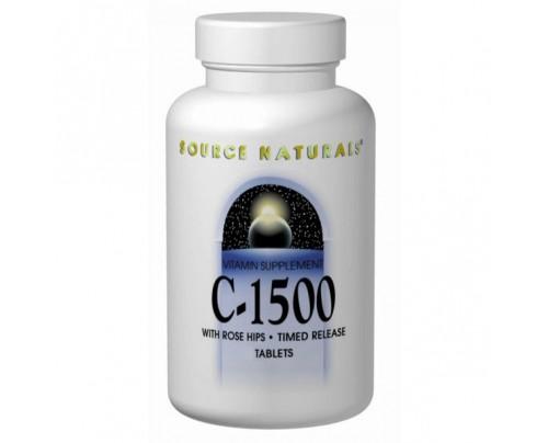 Source Naturals C-500 Vitamin C (Ascorbic Acid, Rose Hips) Tablets