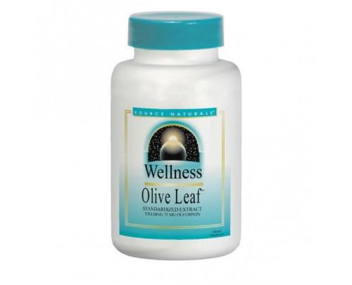 Source Naturals Wellness Olive Leaf 500mg Tablets