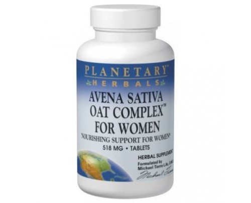 Planetary Herbals Avena Sativa Oat Complex for Women 558mg Tablets