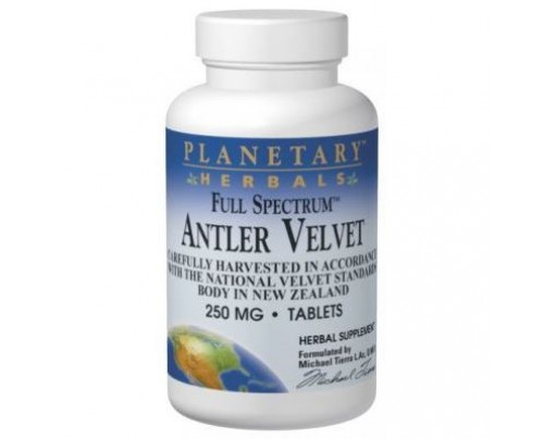 Planetary Herbals Antler Velvet, Full Spectrum 250mg Tablets