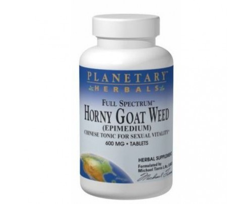 Planetary Herbals Horny Goat Weed, Full Spectrum 600mg &1,200mg Tablets