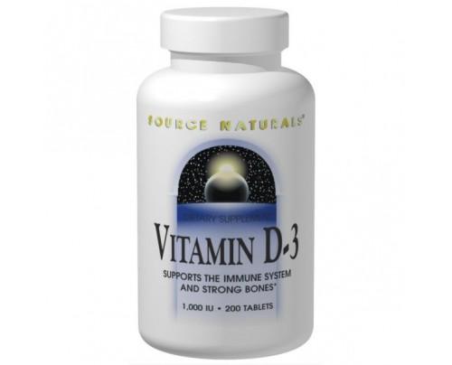Source Naturals Vitamin D-3 Capsules & Tablets