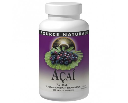 Source Naturals Acai Extract 500mg Capsules