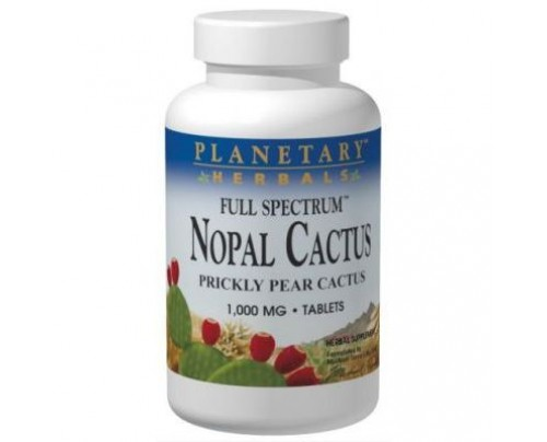 Planetary Herbals Nopal Prickly Pear Cactus, Full Spectrum 1,000mg Tablets