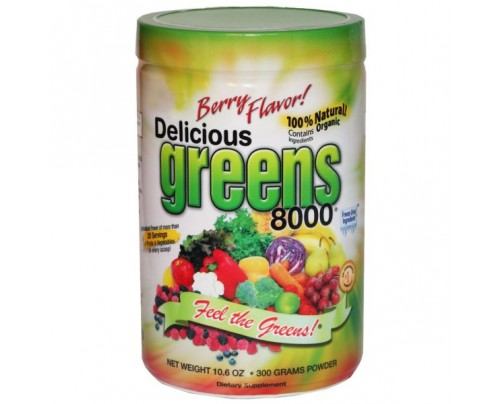 Greens World Delicious Greens 8000 Berry Flavor 10.6oz.