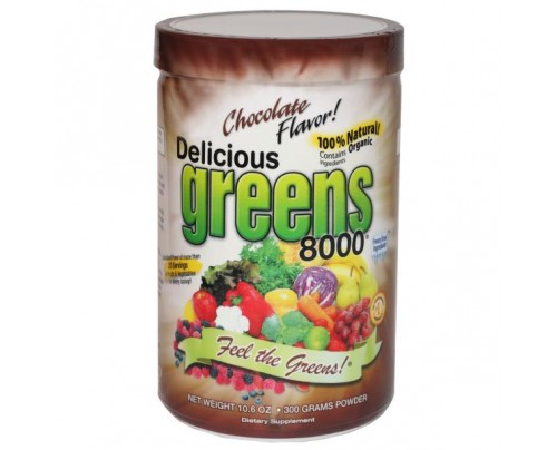 Greens World Delicious Greens 8000 Chocolate Flavor 10.6oz.