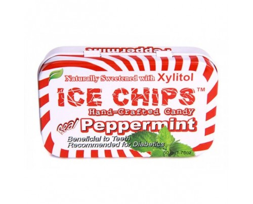 Ice Chips Candy Peppermint Xylitol Candy 1.76oz.