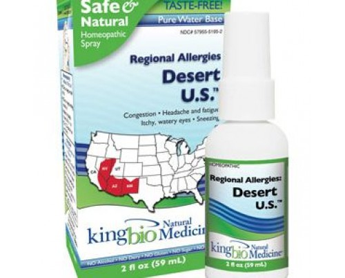 King Bio Homeopathic Regional Allergies: Desert U.S. 2oz.