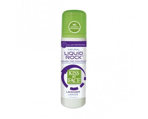 Kiss My Face Deodorant PF Liquid Rock Roll-On Lavender 3oz.