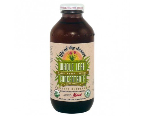 Lily Of The Desert Organic Aloe Vera Juice Whole Leaf Concentrate 16 oz.
