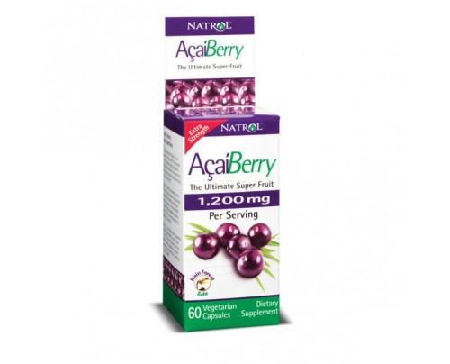 Natrol AcaiBerry Extra Strength 1,200mg 60 Vegetarian Capsules