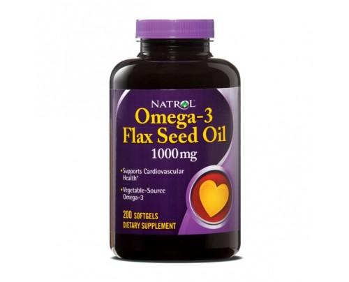 Natrol Flax Seed Oil 1,000mg 200 Softgels