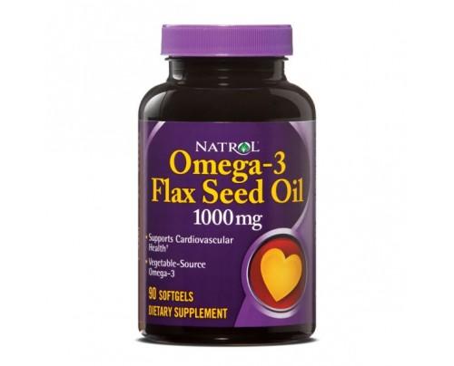 Natrol Flax Seed Oil 1,000mg 90 Softgels