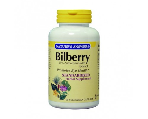 Nature's Answer Bilberry Standardized 80mg 90 Vegetarian Capsules