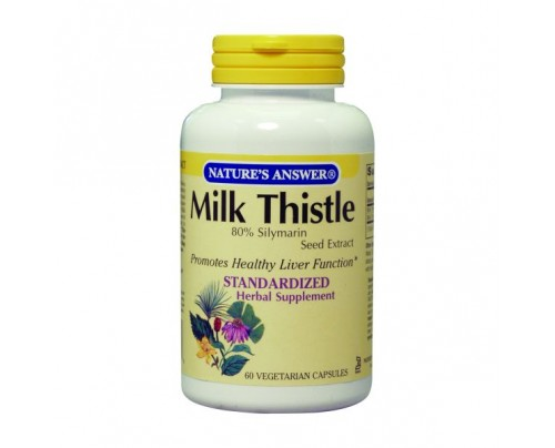 Nature's Answer Milk Thistle Seed Standardized 175mg 60 Vegetarian Capsules