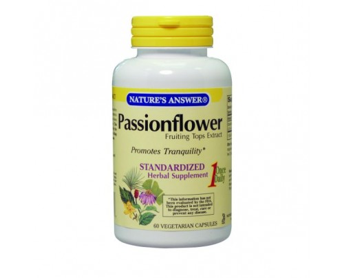 Nature's Answer Passion Flower Standardized 250mg 60 Vegetarian Capsules