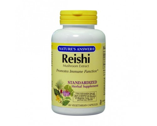 Nature's Answer Reishi Mushroom Standardized 500mg 60 Vegetarian Capsules