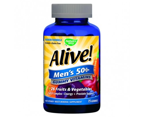 Nature's Way Alive! Men's 50+ Multivitamin Gummy 75 Gummies