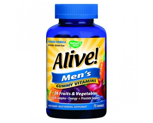 Nature's Way Alive! Men's Gummy Multi Vitamin 75 Gummies