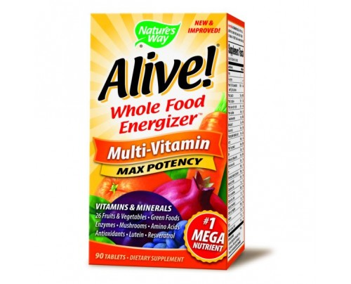 Nature's Way Alive! Max Potency Multivitamin with Iron 90 Tablets