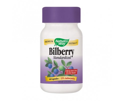 Nature's Way Bilberry Standardized Extract 80mg 60 Capsules