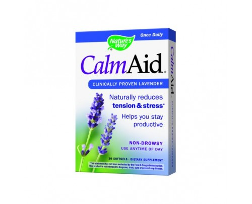 Nature's Way Calm Aid Silexan Lavender Essential Oil 80mg 30 Softgels