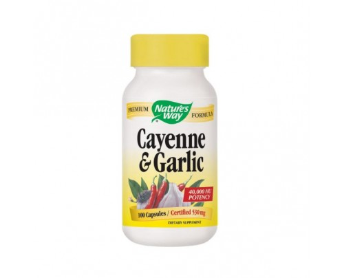 Nature's Way Cayenne & Garlic 530mg 100 Capsules
