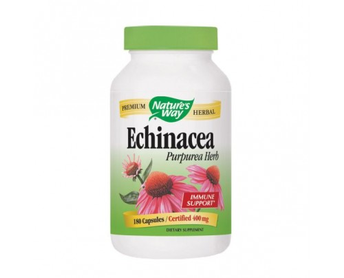 Nature's Way Echinacea Purpurea Herb Organic (stem, leaf, flower) 400mg 180 Capsules