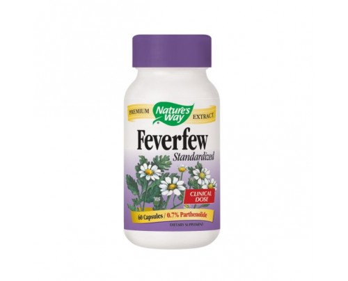 Nature's Way Feverfew Standardized Extract 290mg 60 Capsules