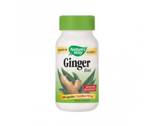 Nature's Way Ginger Root 550mg 100 Capsules