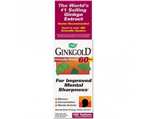 Nature's Way Ginkgold 60mg 100 Tablets