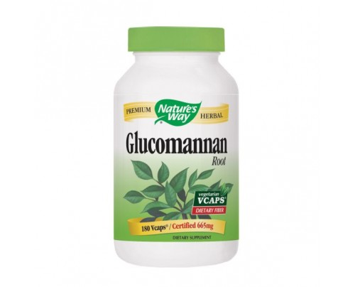 Nature's Way Glucomannan Konjac Root 663mg 180 Vegetarian Capsules