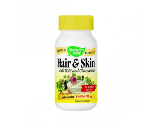 Nature's Way Hair & Skin with MSM and Glucosamine 100 Capsules