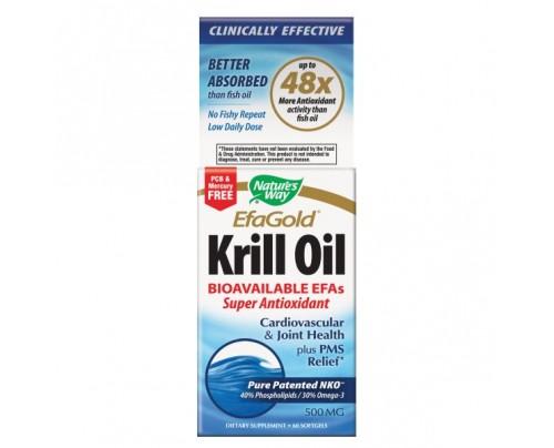 Nature's Way Krill Oil 500mg 60 Softgels