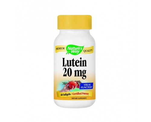 Nature's Way Lutein 20mg 60 Softgels