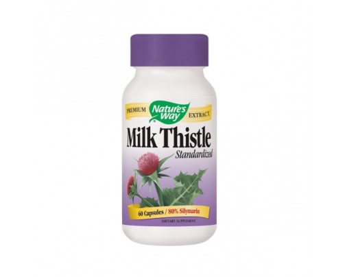 Nature's Way Milk Thistle Standardized Extract 80% Silymarin 80mg 60 Capsules