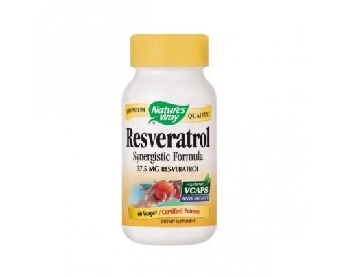 Nature's Way Resveratrol Synergistic Formula 75mg 60 Vegetarian Capsules