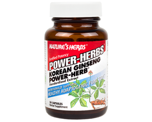 Nature's Herbs Korean Ginseng-Power 100 mg 50 Capsules