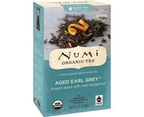 Numi Organic Tea Aged Earl Grey Black Tea 18 Tea Bags