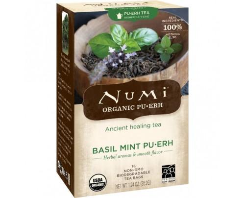 Numi Organic Tea Basil Mint Puerh 16 Tea Bags