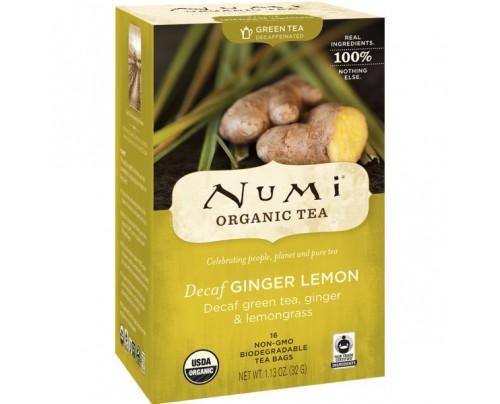 Numi Organic Tea Decaf Ginger Lemon Green Tea 18 Tea Bags