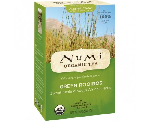 Numi Organic Tea Green Rooibos Tea 18 Tea Bags