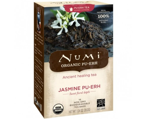 Numi Organic Tea Jasmine Puerh 16 Tea Bags
